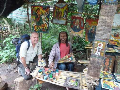 Artist at Lake Tana