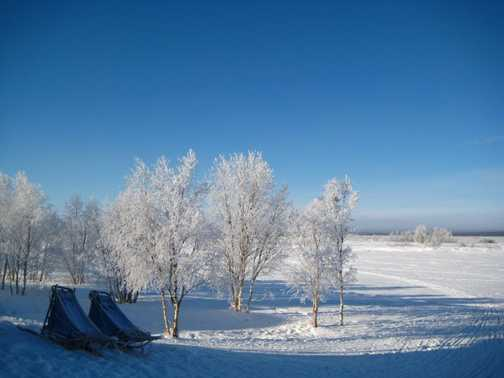 Morning in Ovre Soppero, it was -30C last night