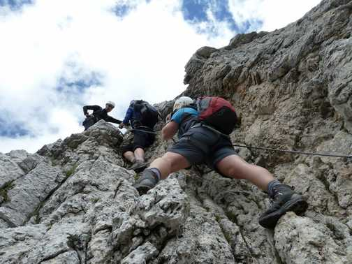 Climbing Col Rosa