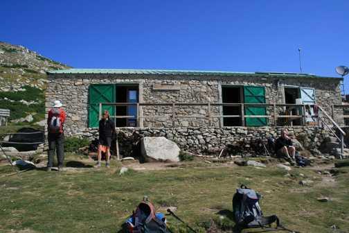 Welcome break at the Refuge de Prati