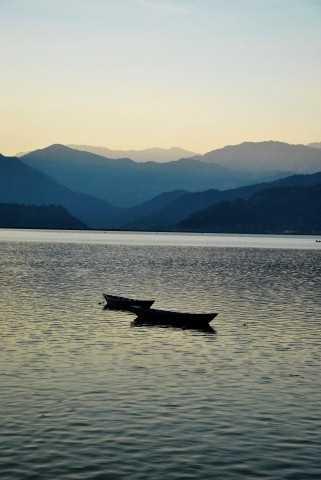 Pokhara lake boat