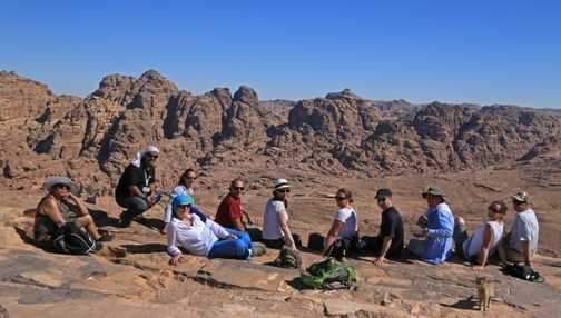 Group photo from High Place, Petra