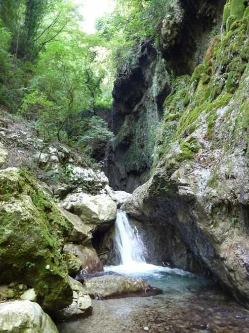 Waterfall near Amalfi