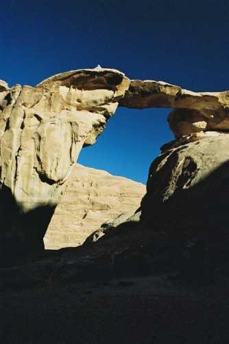 Rock bridge, Wadi Rum