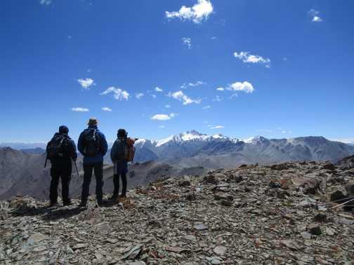 Spectacular vistas descending from Palam Peak