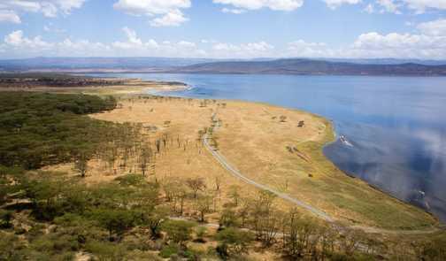Birdseye view of Lake Nakuru
