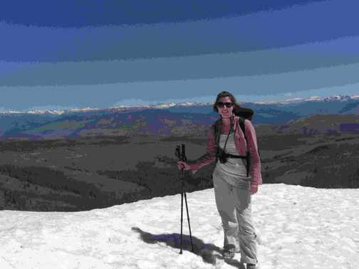 Me - 3/4's of the way up Mt Washburn