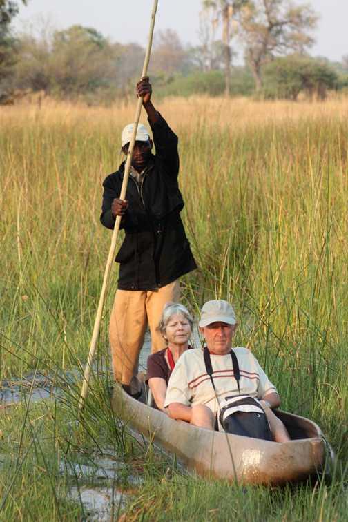 Mokoro landing - Okavango Delta
