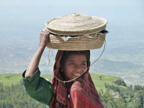 On her way to market