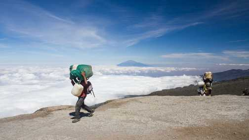 More porters, Meru and Clouds