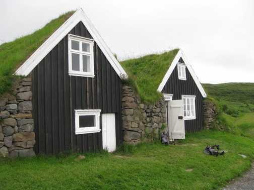 Traditional turf-roofed house at Sel - Skaftafell National Park
