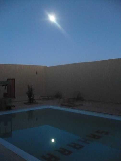 Early morning at Auberge Sahara