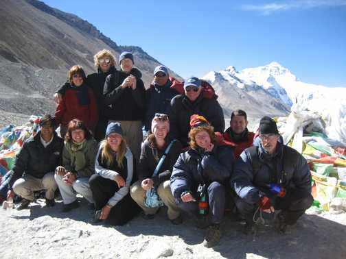Group photo at Everest base camp!