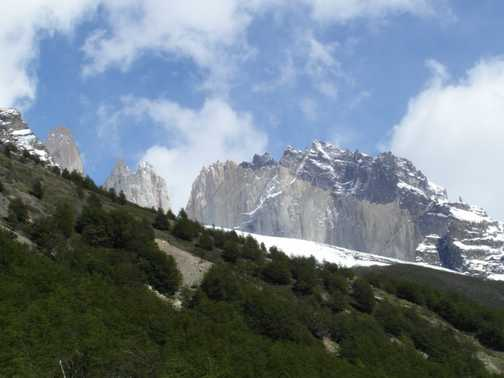 Approaching Torres del Paine viewpoint - 1 hour to go