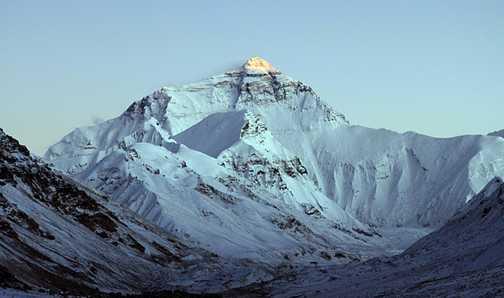 Mount Everest at sunrise