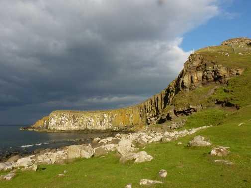 Coastline at Dunstanbro.Castle