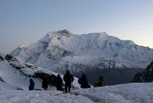 Annapurna II from above Base Camp
