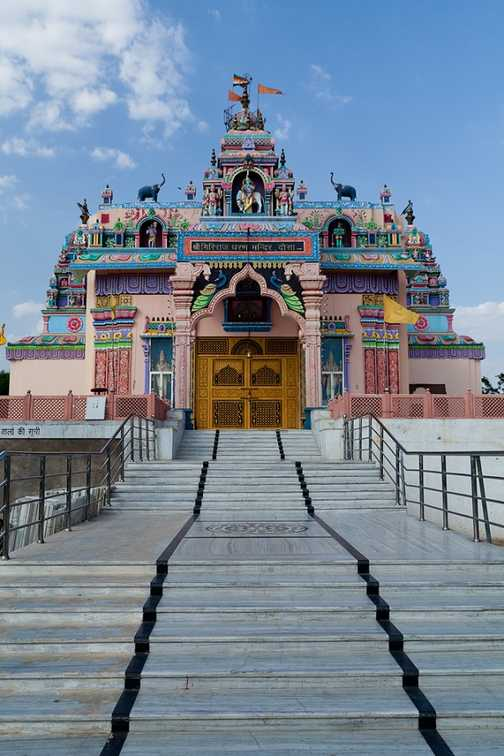 Colouful temple near Dausa on route from Ranthambore to Agra
