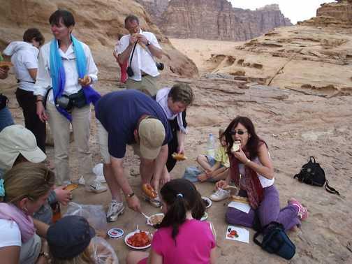 Desert picnic, Wadi Rum