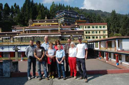 Exodus Group at Karma Kagyu Monaster, Rumtek, Sikkim