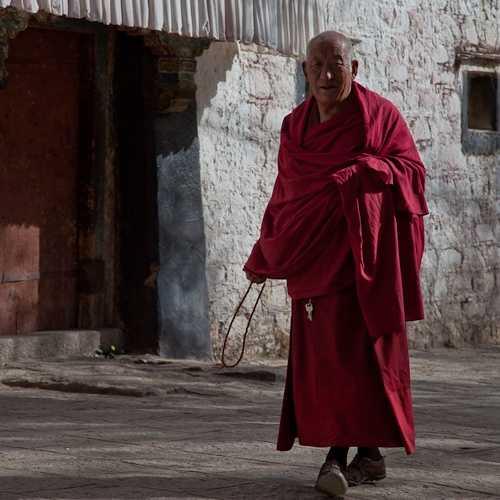 Tibetan at Drepung Monastery