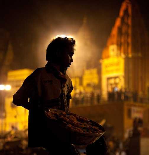 Sadhus on the Ghats, Varanasi