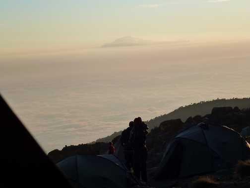 sunrise on summit day