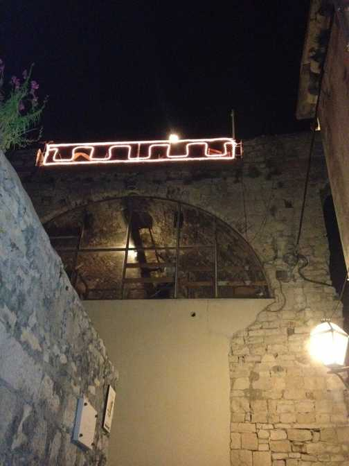 Korcula Roof Bar access via the ladder!