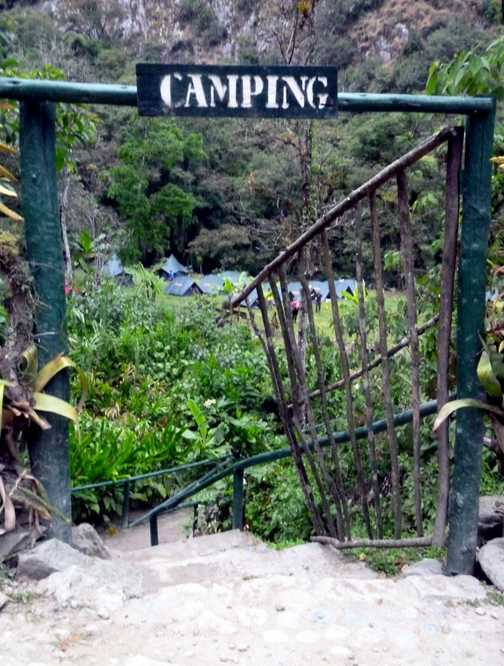 Camping in Macchu Picchu - another beautiful place to stay!