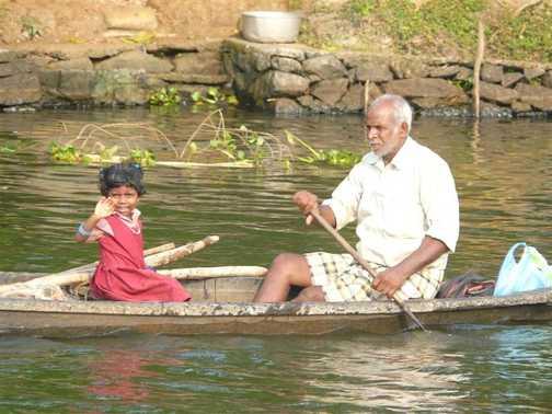 A boat trip with Grandpa.