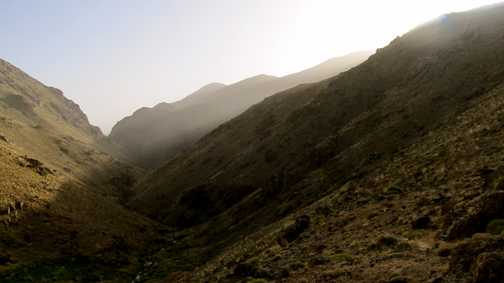 Starting our ascent of Adrar n'Dern