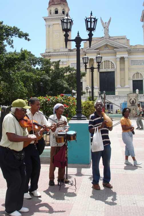 Gig in Parque Cespedes, Santiago de Cuba.