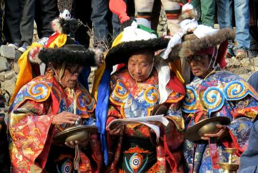 Local 'Harvest' festival at Manang