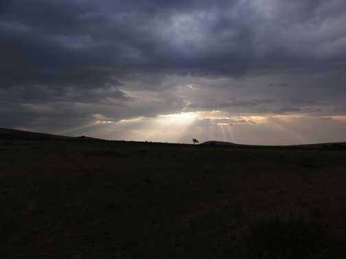 Sunset over the Masai Mara