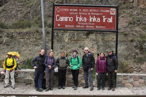 The iconic start to the Inca Trail