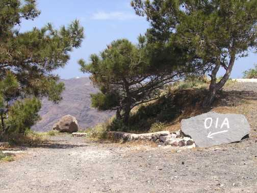 Caldera path to Oia