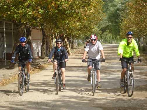 Cyclists at Lake Golcuk