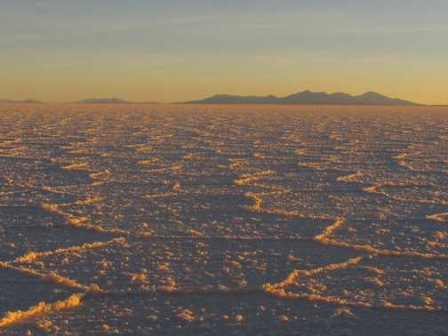 Sunset on the Salt flats