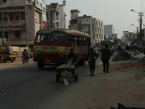 Dusty bus
