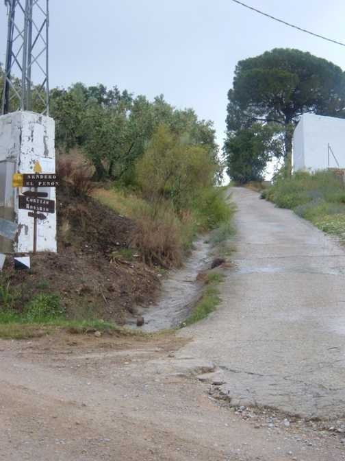 the Cortijo is uphill .....