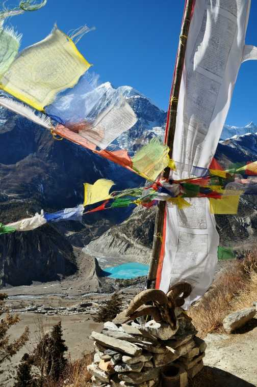 On the way down from Thorong La