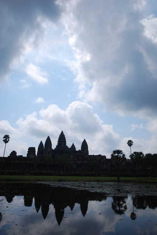 Angkor Wat portrait reflection