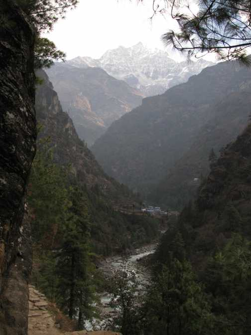Last bridge before climb to Namche