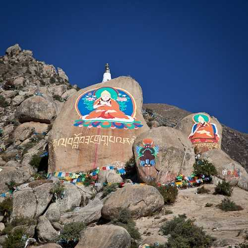Beautiful Tibetan religious architecture