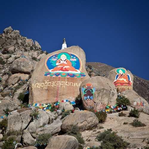 Beautiful Tibetan religious architecture