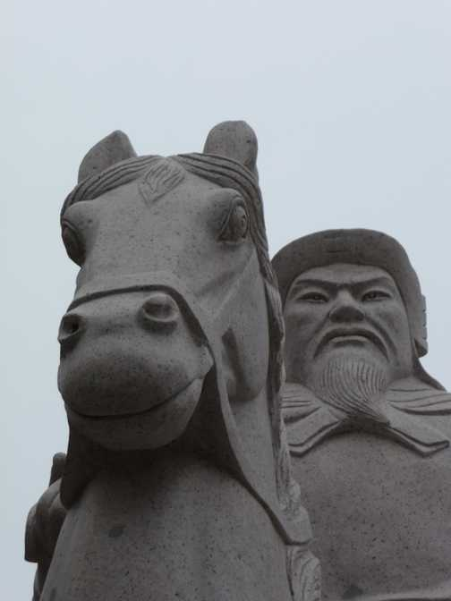Close-up of Ming statue