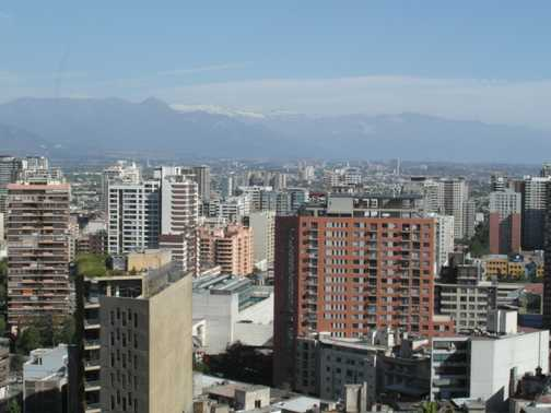 Santiago from historic Cerro Santa Lucia