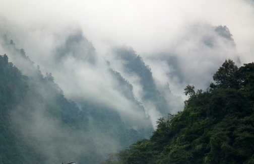 Mount Emei misty scene