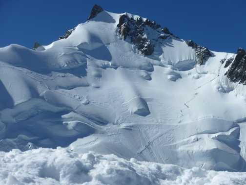 the summit of mount maudit