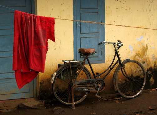 bike & blue door